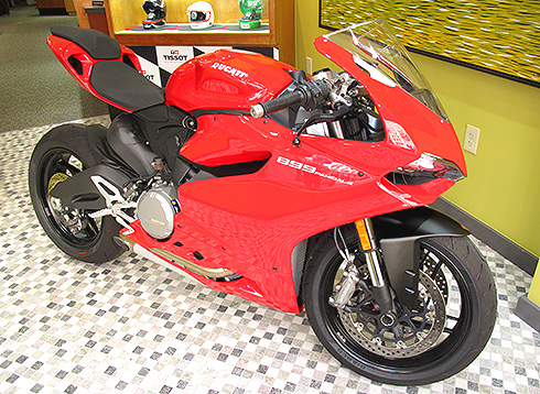 Ducati Motorcycle at Windsor jewelry