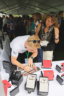 Spencer Pigot Signing Autographs at Wine Women & Shoes